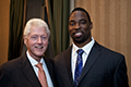 President W. J. Clinton and Justin Tuck :: © 2012